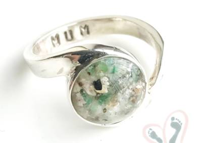 breast milk and ashes into glass jewellery
