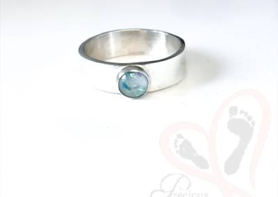 breast milk and glasses into ashes jewellery
