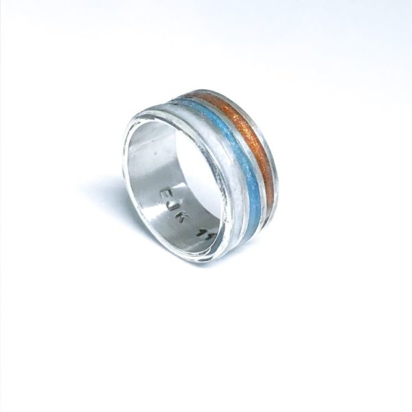 ashes into glass ring