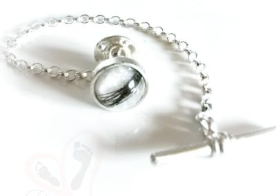 Breastmilk or ashes tie pin