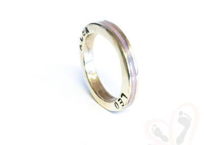 milk diamond ring